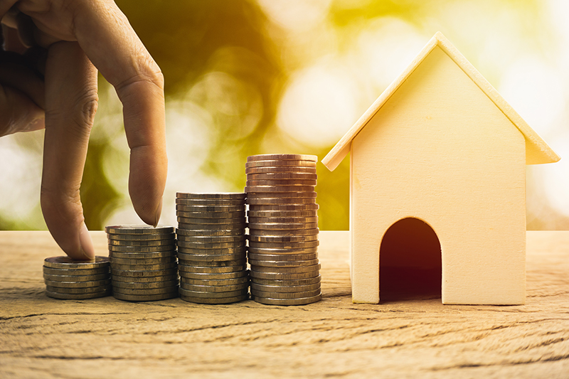 Real estate investment, home loan, savings to buy home concepts.